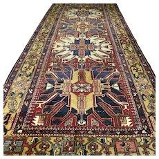 12.8 x 4.9 Impressive Eagle Kazak Oriental rug √ Free shipping