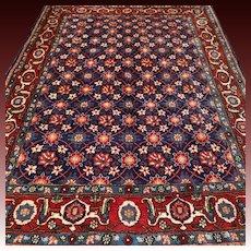 6.6x5 Bohemian blue flower Oriental rug √ Free shipping