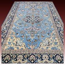7.3x4.6 Luxury blue bohemian Kashmir rug √ Free shipping
