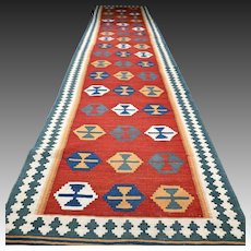 13.3x2.9 Extra long colorful flatweave Kilim √ Free shipping
