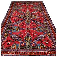 6.9 x 4.3 Antique Armenian Kazak Oriental rug √ Free shipping