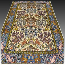 5.4x3.5 Decorative Animal Kingdom Oriental rug √ Free shipping