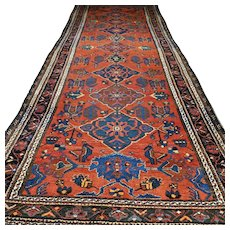 12.5x4.6 Superb Tribal vintage oversized Kazak rug √ Free shipping