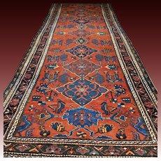 12.5x4.6 Superb Tribal vintage oversized Kazak rug √ Free shipping