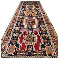 10.3x3.5 Special Kazak design Oriental runner √ Free shipping