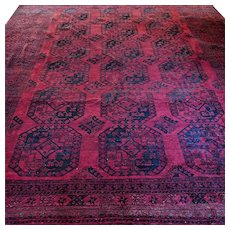 13.5x10.8 Super oversized antique Afghan Ersari rug √ Free shipping