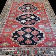 8.2 x 5.9 Antique collectible Kazak rug √ Free shipping