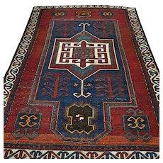 6.6 x 4.6 Antique collectible Kazak rug √ Free shipping