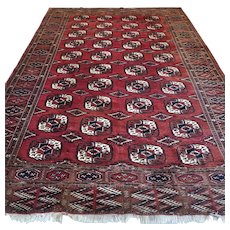 10.2 x 7.1 Antique Turkmen rug √ Free shipping