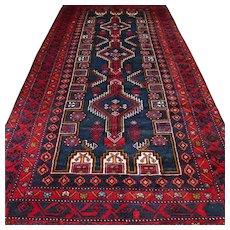 10.3 x 5.3 Beautiful dark Caucasian rug √ Free shipping