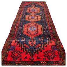 9.2 x 3.5 Dark bohemian Oriental runner rug √ Free shipping