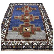 6 x 4.8 Antique 1800s Caucasian Kazak rug √ Free shipping