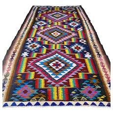 10.2 x 5.6 Colorful flatweave Kilim √ Free shipping