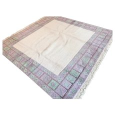 6.7 x 6.7 Light modern contemporary square rug √ Free shipping