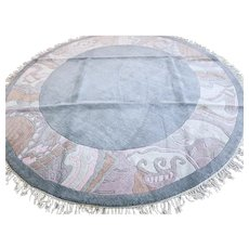Large 8.4 ft round modern contemporary rug √ Free shipping
