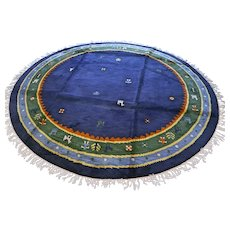Large 8.3 ft round modern contemporary rug √ Free shipping