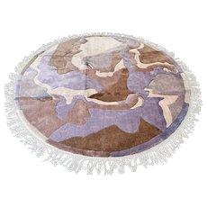 6.6 ft Unused round art rug √ Free shipping