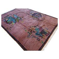 9.2 x 6.6 Modern contemporary art rug √ Free shipping