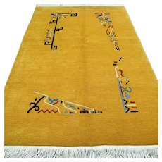 6 x 4 Modern unused yellow rug √ Free shipping