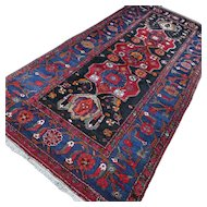 10.1 x 4.7 Antique tribal Kazak rug √ Free shipping