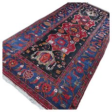 10.1 x 4.7 Antique tribal Kazak rug √ Free shipping