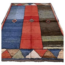 6.6 x 4.1 Tribal unused Gabbeh rug √ Free shipping