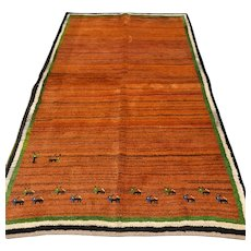 7.1 x 4.3 Tribal unused Gabbeh rug √ Free shipping