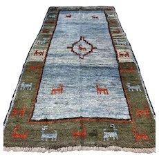 8.5 x 4.1 Tribal unused Gabbeh rug √ Free shipping