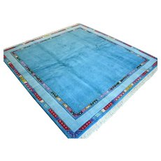 6.7 x 6.7 Modern contemporary blue rug √ Free shipping