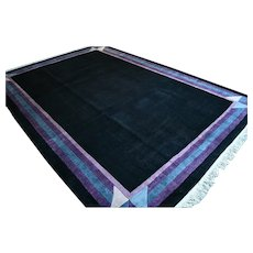 11.6 x 8 Large black modern contemporary rug √ Free shipping
