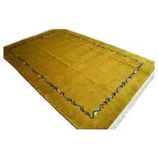 9.8 x 6.7 Modern yellow contemporary art rug √ Free shipping