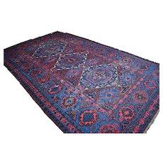 12.6 x 7.4 Incredible antique Caucasian Kazak Sumak rug √ Free shipping