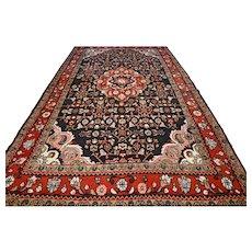 9.8 x 5.2 Impressive dark Bohemian rug √ Free shipping