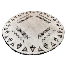 6.7 Round Moroccan Berber rug √ Free shipping