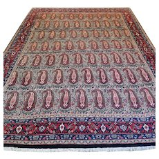 9.7 x 7.4 Antique collectors Boteh rug √ Free shipping