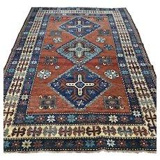 6.1 x 4.4 Vintage antique Kazak rug √ Free shipping