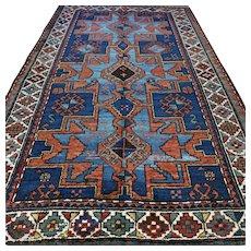 7.3 x 4.2 Antique Caucasian star Kazak rug √Free shipping