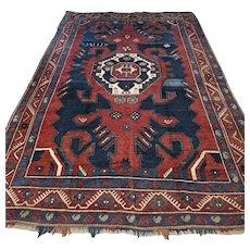 8.4 x 4.5 Dated 1930 Caucasian Karabagh Kazak rug √ Free shipping