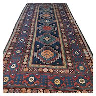9.5 x 4.3 Antique Caucasian Kazak rug √Free shipping