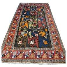 8.4 x 4.5 Antique 1918 Caucasian Karabagh Kazak rug √ Free shipping