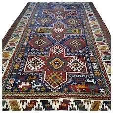 8.3 x 5 Antique Caucasian Kazak rug √Free shipping