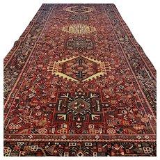 12.6 x 4.8 Impressive antique Kazak rug √ Free shipping