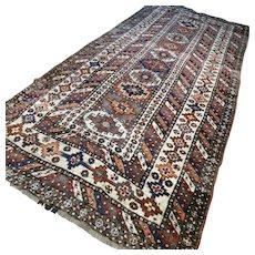 10.7 x 4.8 Antique 1800s Kazak rug √ Free shipping