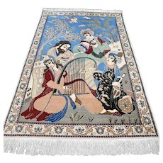 4.3 x 2.7 Unique pictoral rug √ Free shipping