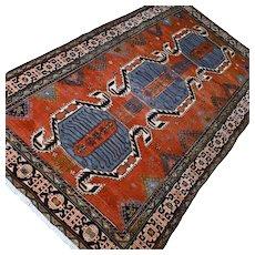 8 x 4.2 Antique 1800s Kazak rug √ Free shipping