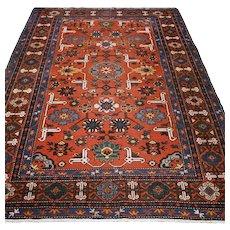 7 x 4.3 Antique Kazak rug √ Free shipping