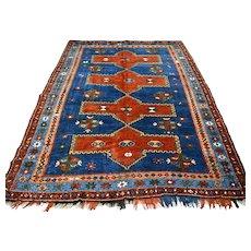 7.5 x 5.2 Antique 1800s Kazak rug √ Free shipping