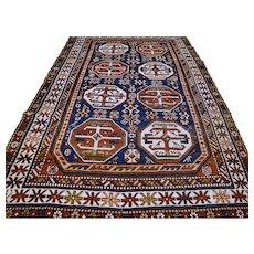 6.5 x 4 Antique Caucasian Kazak rug √ Free shipping