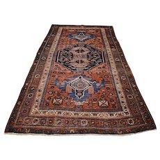 7.6 x 4.2 Antique tribal Kazak rug √ Free shipping
