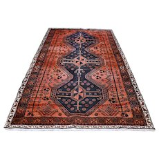 7 x 4.3 Antique Tribal Kazak rug √ Free shipping